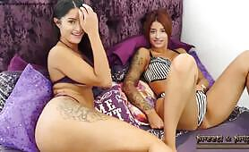 Preeti and Priya Indian s strip to show tan lines and pussy