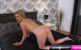 UK MILF Pornstar Georgie Lyall gets naked in heels