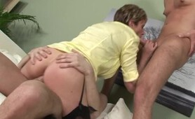 Two Guys Fuck Lady Sonia In Hot Threesome