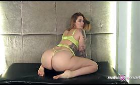 Epic bbw British pornstar Paige Turnah shows off her big ass